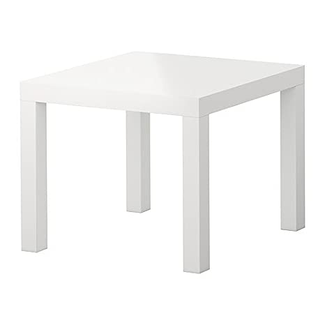 IKEA Lack – Mesa de café (55 x 55 cm), color negro, HIGH GLOSS/WHITE, 55X55X45