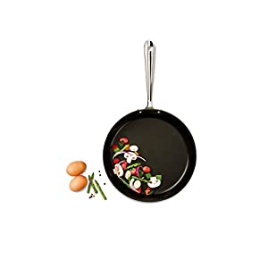 All-Clad HA1 Hard Anodized Nonstick Fry Pan Cookware Set, 10 inch and 12 inch Fry Pan, 2 Piece, Black & HA1 Hard Anodized Nonstick Dishwasher Safe PFOA Free Square Griddle Cookware, 11-Inch, Black