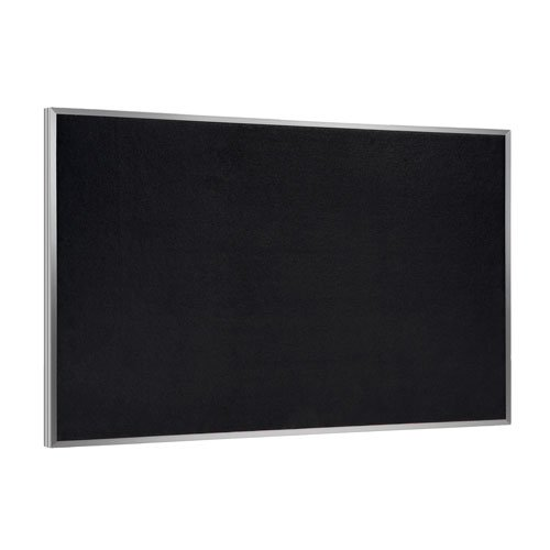 Recycled Rubber Tackboard Surface: Black, Size: 24