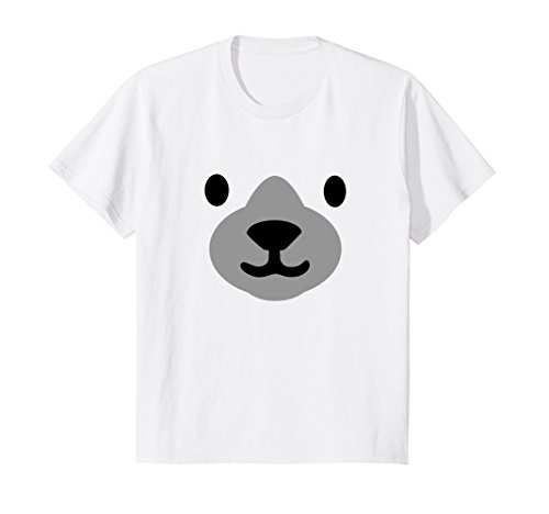 Kids Polar Bear Mask Shirt Halloween Costume for Women Men Kids 4 (Toddler Polar Bear Costumes)