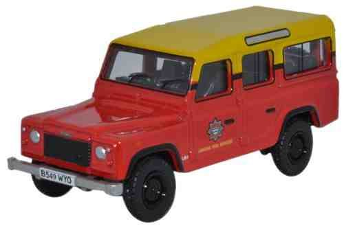 Oxford Diecast 1:76 Scale Land Rover Defender Station Wagon London Fire Brigade