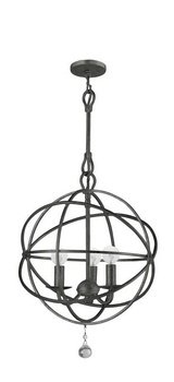 Crystorama 9225-EB Traditional Three Light Mini Chandeliers from Solaris collection in (Crystorama Lighting Chandelier)