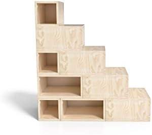 ABC MEUBLES - Escalera Cubo para Guardar Cosas 125 cm - ESC125 - Bruto: Amazon.es: Hogar