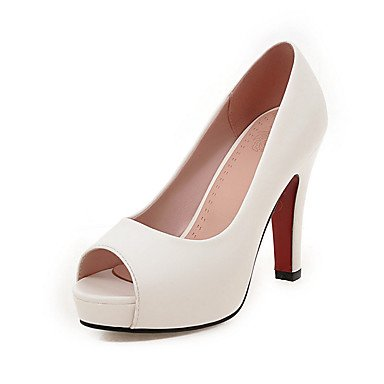 Le donne sexy elegante sandali donna tacchi Primavera Estate Autunno Inverno altri PU Office & Carriera Party & abito da sera Stiletto Heel nero Rosa Bianco Beige , bianco , us8 / EU39 / UK6 / CN39