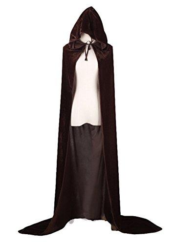 Joygown Hooded Cloak Long Velvet Cape for Christmas