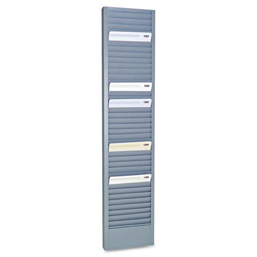 SteelMaster - 40-Pocket Steel Swipe Card/Badge Rack, 4-1/8'' x 18-11/16'' 20601 (DMi EA