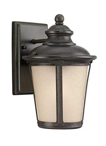 Sea Gull Lighting 88240EN3-780 One Light Outdoor Wall Lantern Burled Iron