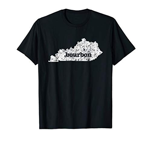 Kentucky Bourbon Love Home State Distressed Graphic T-Shirt