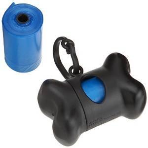 Ducomi® Bolsas para excrementos de perro con dispensador y clip (15 bolsas)