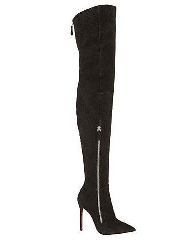 Puntiagudos Cn42 Zapatos 8 Moda Black Eu43 Cn44 Y Uk7 A Vellón Mujer Botas us9 Uk9 De Tacón Negro 5 10 5 us11 Xzz Eu41 Noche La Casual Fiesta Black Stiletto Vestido AdqwXAC