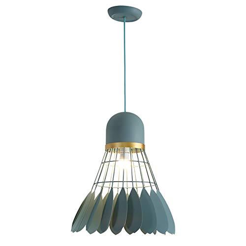 FAJZF Chandelier Light Shades Ceiling Grey, E27 Modern Pendant Light Badminton Lampshade Industrial Pendant Lamp, Diameter 40 cm X Height 50 cm,Green