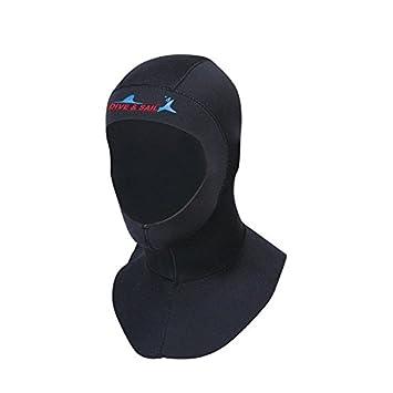 nelnissa 3mm invierno cálido gorro de natación para Gorra Negra de Neopreno de buceo buceo snorkeling campana, X-Large