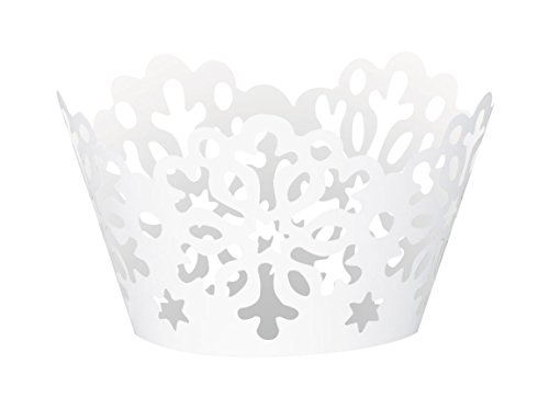 [Die Cut Snowflake Holiday Cupcake Wrappers, 12ct] (Holiday Wrapper)