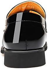ChenTeShangMao Zapatos De Negocios Smoking del Vestido De Los Hombres De Los Zapatos De Los Hombres De La PU Empalme De Cuero Liso Slip-en Oxford Transpirable Forrado Cómodo