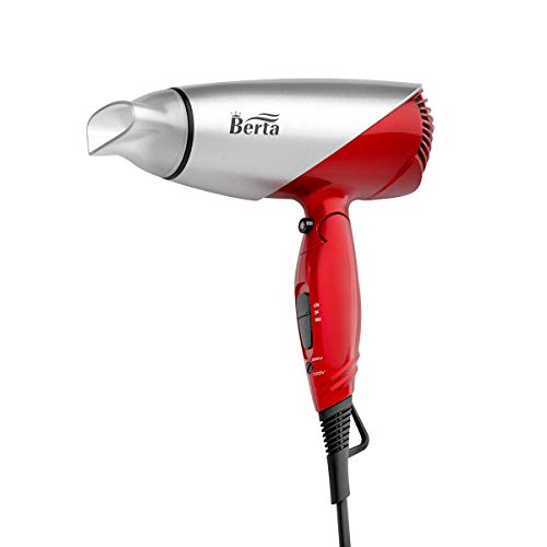 Berta 1875W Hair Dryer, Professional Ionic Folding Hair Dryer, Fast Dry Hair Blow dryer with Folding Handle, Dual Voltage Hair Dryers for Salon