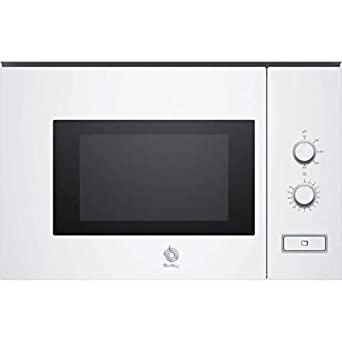 Balay 3CP5002B0 - Microondas integrable / encastre, 800 W, 20 L, color blanco