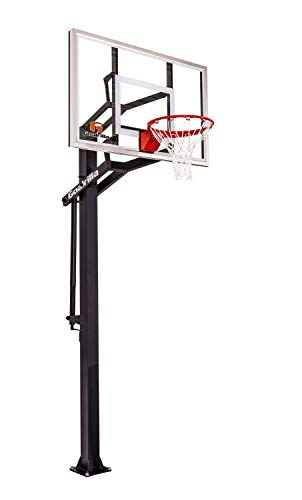 Goalrilla GS54 In Ground Basketball Hoop with Adjustable Height Backboard and Pro-Style, Breakaway Rim