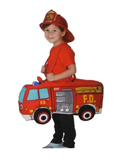 Toddler Boys Ride On Rider Fire Truck Costume 3T-4T