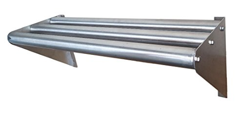 - Commercial Stainless Steel Tubular Wall Shelf 14 x 24