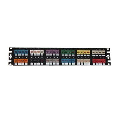 Panduit CPP48FMWBLY 48-Port Flat Flush-Mount Patch Panel, Black by Panduit