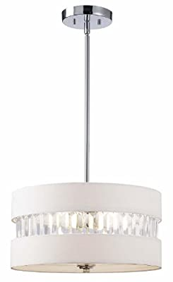 Canarm ICH426A03CH16 Ballard 3-Light Chandelier, Chrome