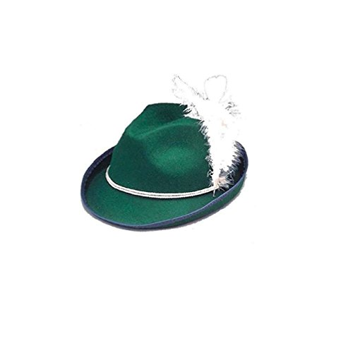 Biarriz Hat Better Felt Costume Alpine Hat Bavarian Hat With Feather (1960's Accessories Hat Womens Medium)