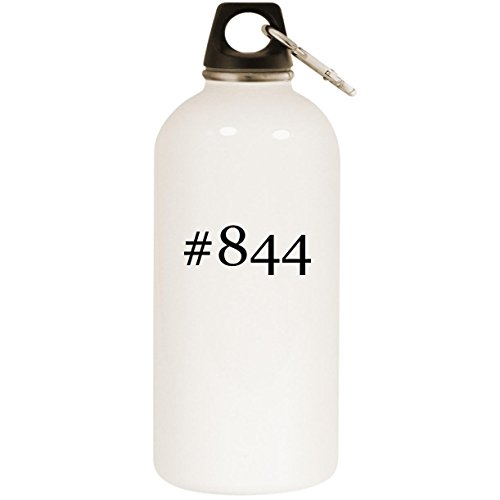 (Molandra Products #844 - White Hashtag 20oz Stainless Steel Water Bottle with Carabiner)