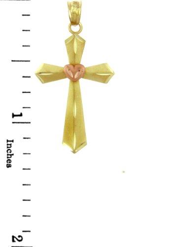 10 ct 471/1000 Or Jaune Croix - La Coeur-Croix Pendentif