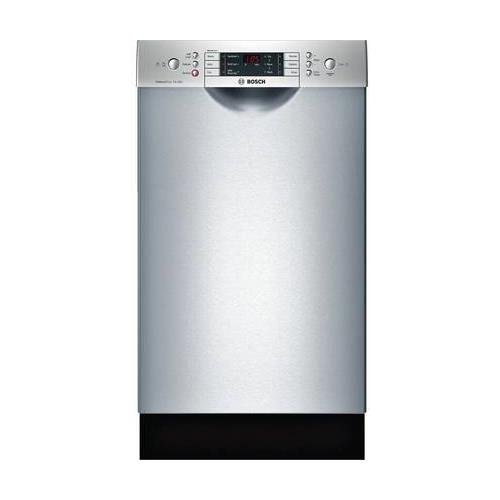 Bosch SPE68U55UC 18″ 800 Series Energy Star Rated Dishwasher with 10 Place Settings 6 Wash Cycles and 5 Options Water Softener Stainless Steel EuroTub and AquaStop Plus Leak Protection in Stainless