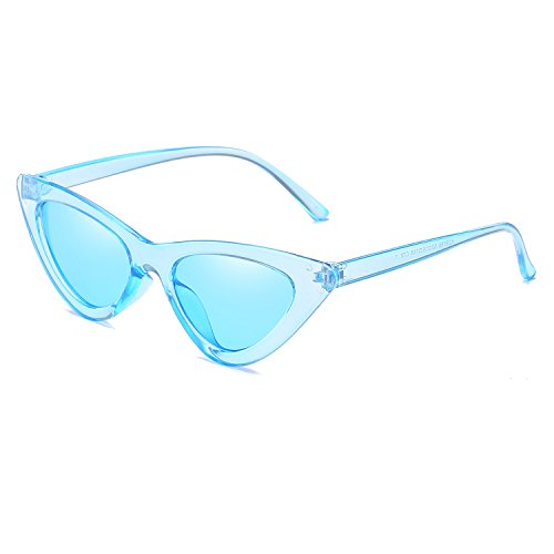 Reb Women Sunglasses UV400 Glasses Eyewear Blue Transparent Blue Green Small Lens Size New Fashion Eye Cat Frame Triangle Sun RZnav5x