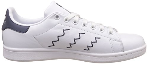Baskets White Blue Blanc Smith White Footwear Trace Mode adidas Footwear Femme Stan PEqwwz