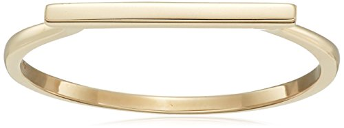 14k Yellow Gold Bar Ring, Size 8 14k Yellow Gold Ring