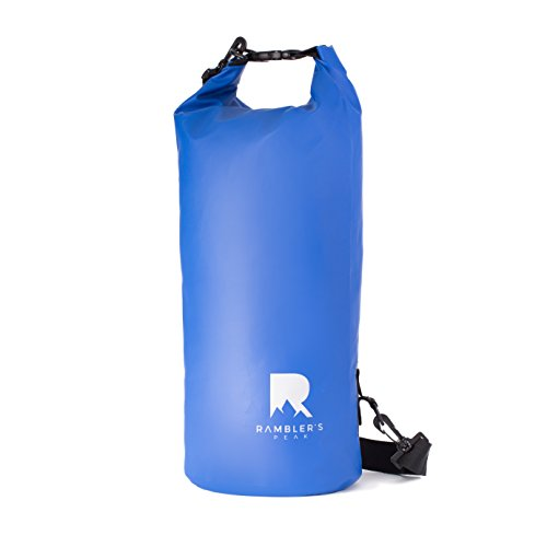 Rambler's Peak Dry Bag - Reliable 10L Waterproof Bag Great For Fishing, Kayaking, Camping, Beach, Boating, Hiking, Snowboarding and More - Heavy Duty Dry Sack Built to Last