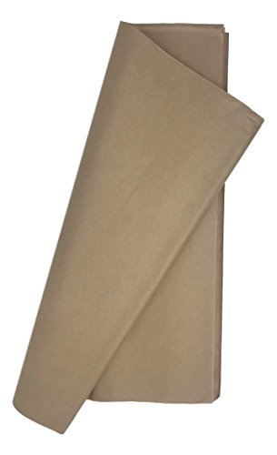 7 Mountains Brands 100 x The Perfect Gift Wrap Tissue Paper. Acid Free! 20x30 Inch - 100 Sheet Value Pack- (Sand Brown) by 7 Mountains Brands