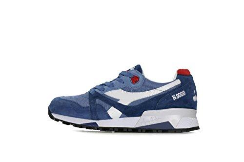 Diadora Mens Boots (Diadora N9000 Italia Mens Blue Mesh/Suede Athletic Lace Up Training Shoes 9)