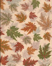 Fall Tissue - Fall Leaves on Tan Tissue Paper ~ Green/Gold/Rust ~ 10 Large Sheets