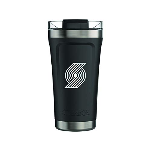 OtterBox Fan Brander 16oz Black Tumbler with NBA Design (Portland Trailblazers) (Trailblazers Fan Portland)