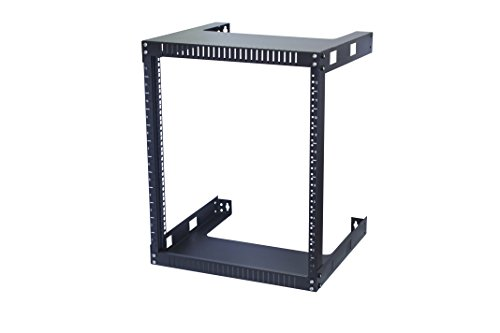 Kenuco 12U Wall Mount Open Frame Steel Network Equipment Rack 17.75 Inch Deep