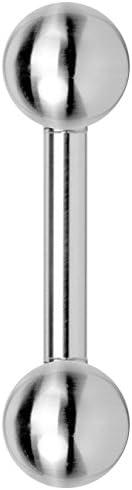 Barbell/Hantel aus Stahl mit Kugeln – Piercing für Ohrläppchen, Zunge, Brust, Knorpel, Lippe und/oder Madonna – aus Chirurgenstahl
