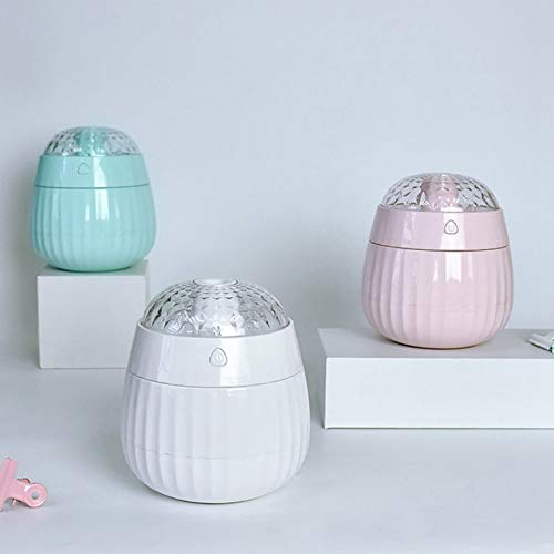 White KNOSSOS 380ml Air Humidifier LED Projector Electric Ultrasonic Essential Oil Diffuser