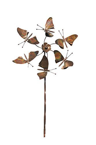 Ancient Graffiti Flamed Butterflies Fluttering Spinner Stake, 22 by 66-Inch by Ancient Graffiti