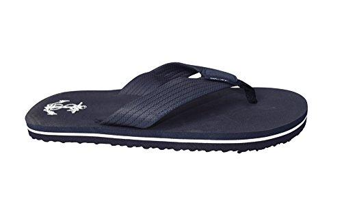 Fersken Couture For Menn Flip Flop Syntetisk Suede Stappy Strand Flats Sandaler Navy