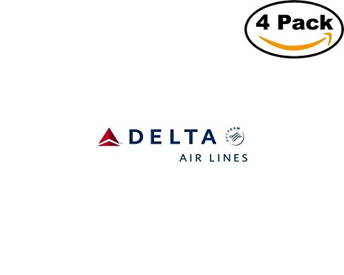 Airlines Delta Airlines Logo 4 Stickers 4X4 Inches Car Bumper Window Sticker Decal