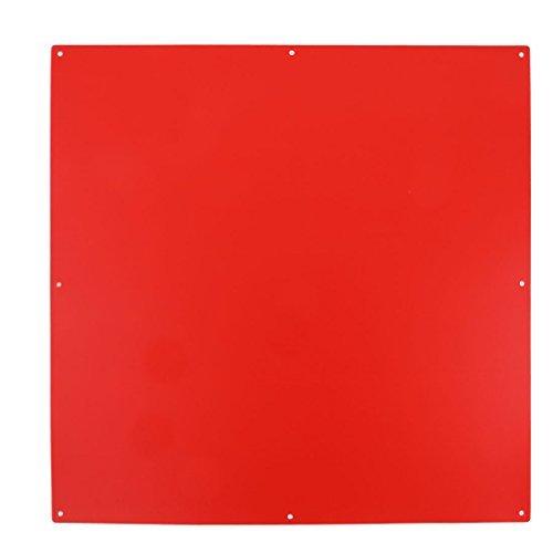 eDealMax PVC familiar Sala de estar Decoracin plaza en forma de pantalla colgante 16 x 16 pulgadas rojas