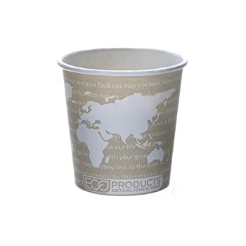 Eco-Products - Renewable & Compostable Hot Cups - 4 oz. - EP-BHC4-WA (20 Packs of 50)