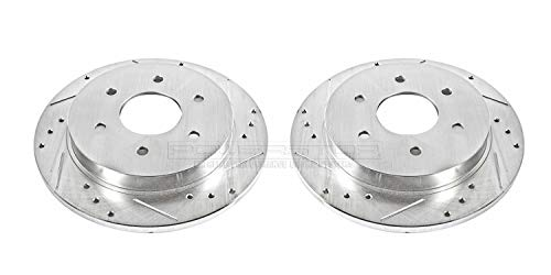(Power Stop JBR994XPR Rear Evolution Drilled & Slotted Rotor Pair)