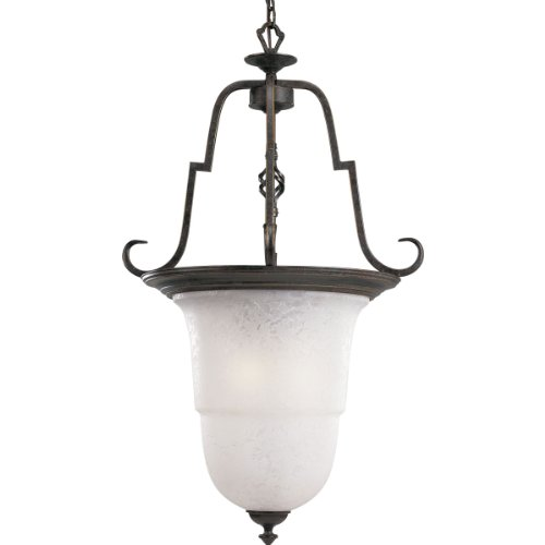 Progress Lighting P4266-84 3-Light Melbourne Foyer Fixture, Espresso