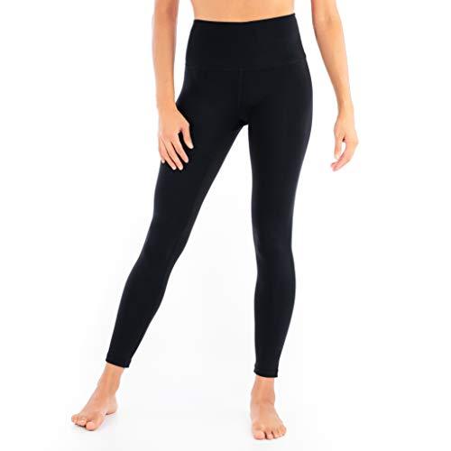 9cd77fb24d01f5 Yoga Pants Leggings for Women High Waist Tummy Control 7/8 Synergy (Black,  Small)