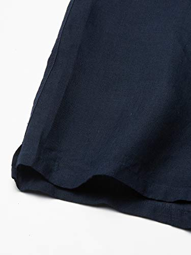 Lacoste Men's Short Sleeve Solid Linen Button Down Collar Reg Fit Woven Shirt