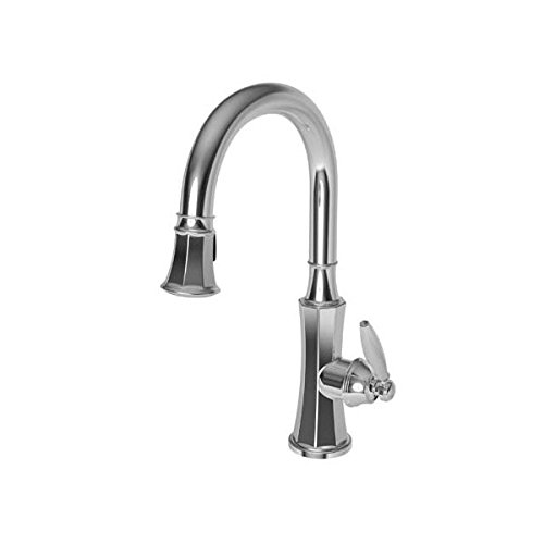 (Newport Brass 1200-5103 Pullout Spray High-Arch Kitchen Faucet from the Metropol, Polished Chrome)